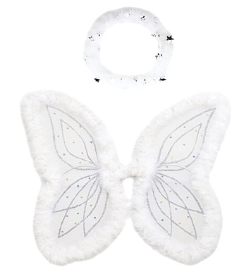 ANGEL DRESS UP SET - MARABOU (halo wings)