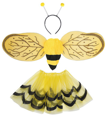 BEE DRESS UP SET - CHILD (tutu wings antenna)