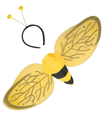BEE DRESS UP SET - ADULT (wings antenna)