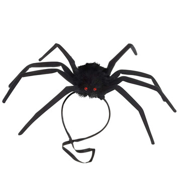 BENDABLE HAIRY SPIDER HEADDRESS  50cm