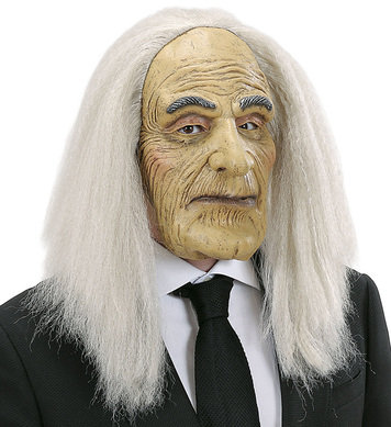 BUTLER MASK WITH WIG