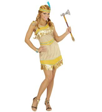 GOLDEN INDIAN GIRL (dress belt hat)