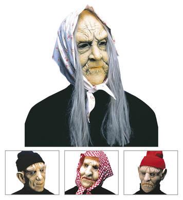 OLD MAN/WOMAN MASK W/HEADPIECE