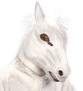 WHITE HORSE PLUSH MASK