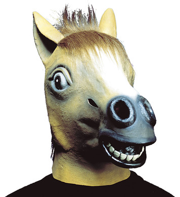 HORSE MASK WITH PLUSH HAIR