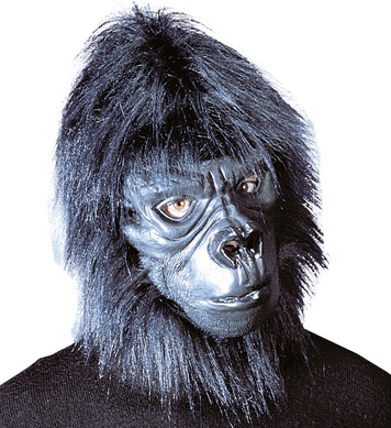 GORILLA MASK WITH PLUSH HAIR