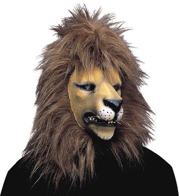 LION MASK W/PLUSH HAIR