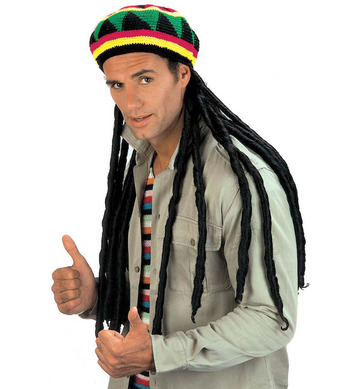 RASTA TAM W/EXTRA LONG DREADLOCKS