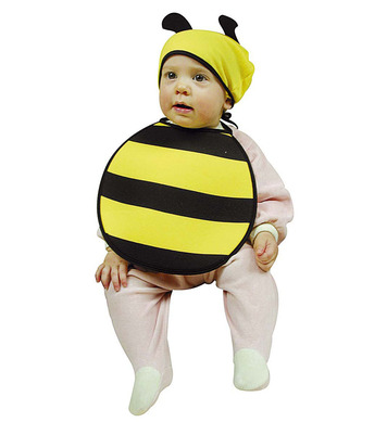 BABY BEE BONNET & BIB