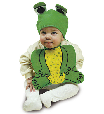 BABY FROGGY SET BONNET & BIB