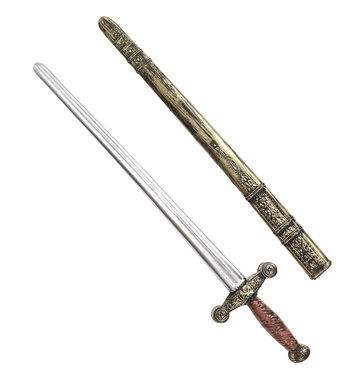 OLD TIME KNIGHT SWORD WITH SCABBARD 75cm
