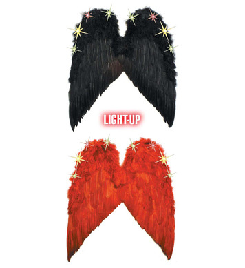 LIGHT UP FEATHER WINGS - Red only