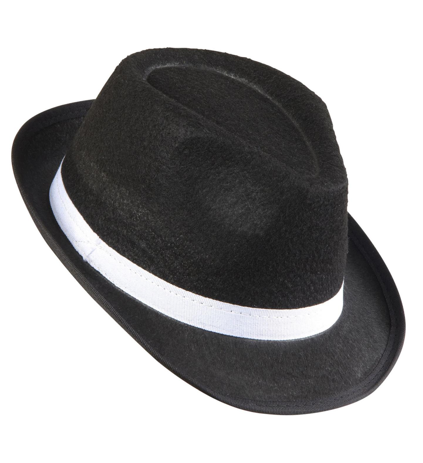 Gangster Hat Felt Black Felt Hat 20s 30s Fancy Dress