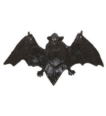 GLITTER BAT HAIR CLIPS
