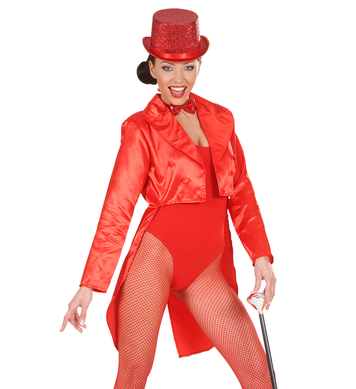 TAILCOAT RED SATIN WOMENS