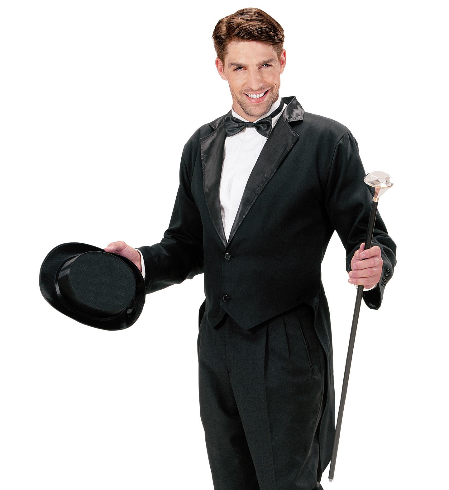 Mens Blk Lined Tailcoat Tailcoat Jacket Fancy Dress