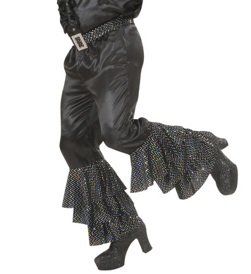 BLACK SATIN PANTS MEN (w/sequin belt)