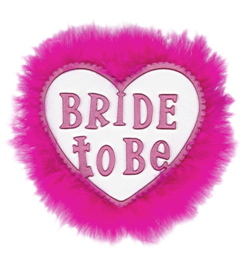BRIDE TO BE BROOCHES - WHITE