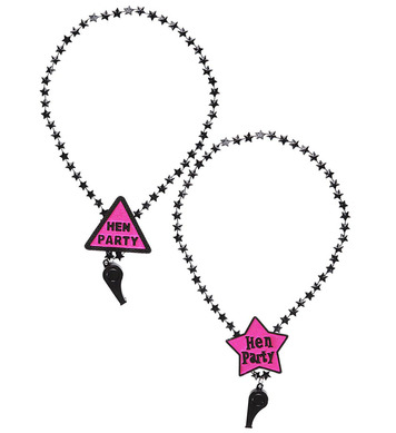HEN PARTY WHISTLE NECKLACE - 2 styles