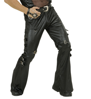 BLACK LEATHERLOOK PANTS MENS
