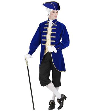 VENETIAN NOBLEMAN - BLUE (jacket w/vest jabot pants)