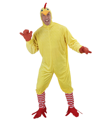 CHICKEN (jumpsuit feet mask)