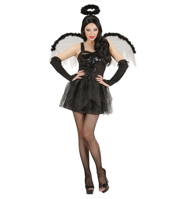 BLACK ANGEL (dress wings gloves halo)