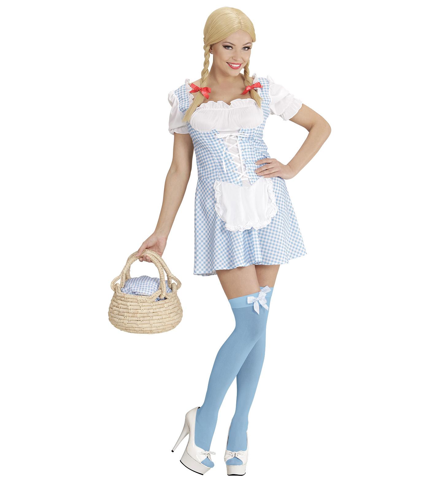 Ladies Miss Muffet - Light Blue Costume Fancy Dress