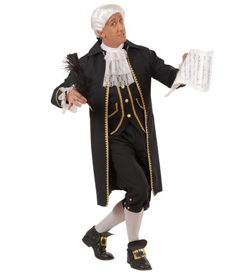 COMPOSER COSTUME (coat/vest jabot pants shoe buckles)