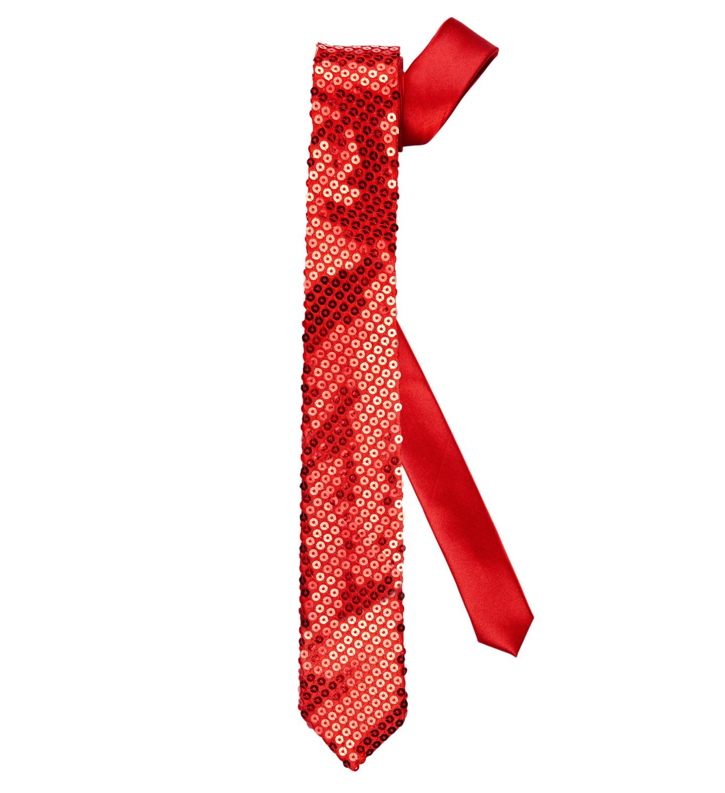Red Sequin Necktie Fancy Dress