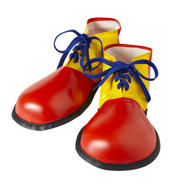 CLOWN SHOES - ADULT SIZE - red