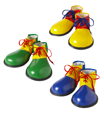 CLOWN SHOES - ADULT SIZE (blue yellow green)