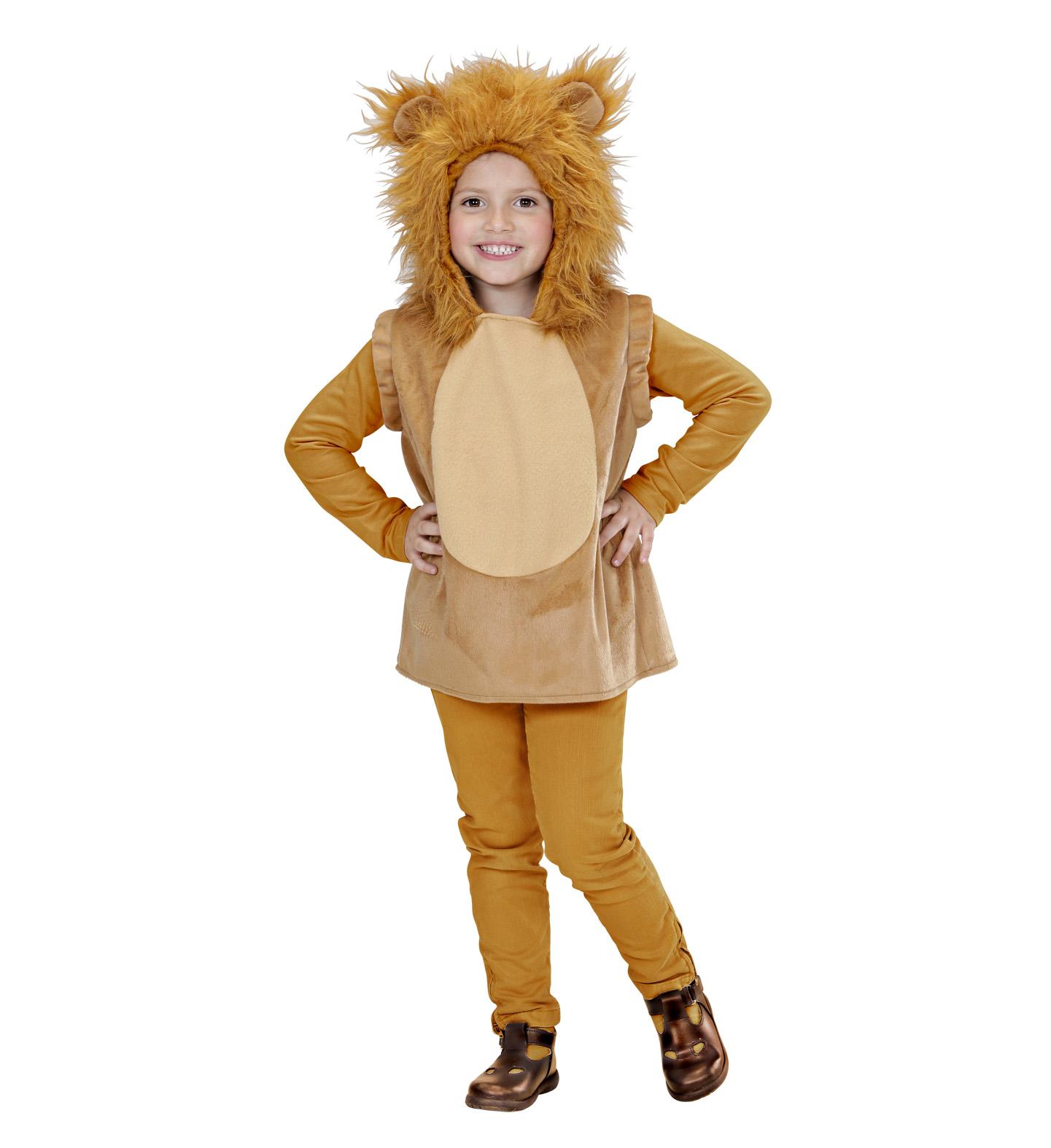 Toddler Lion Hooded Vest Costume Animal Fancy Dress