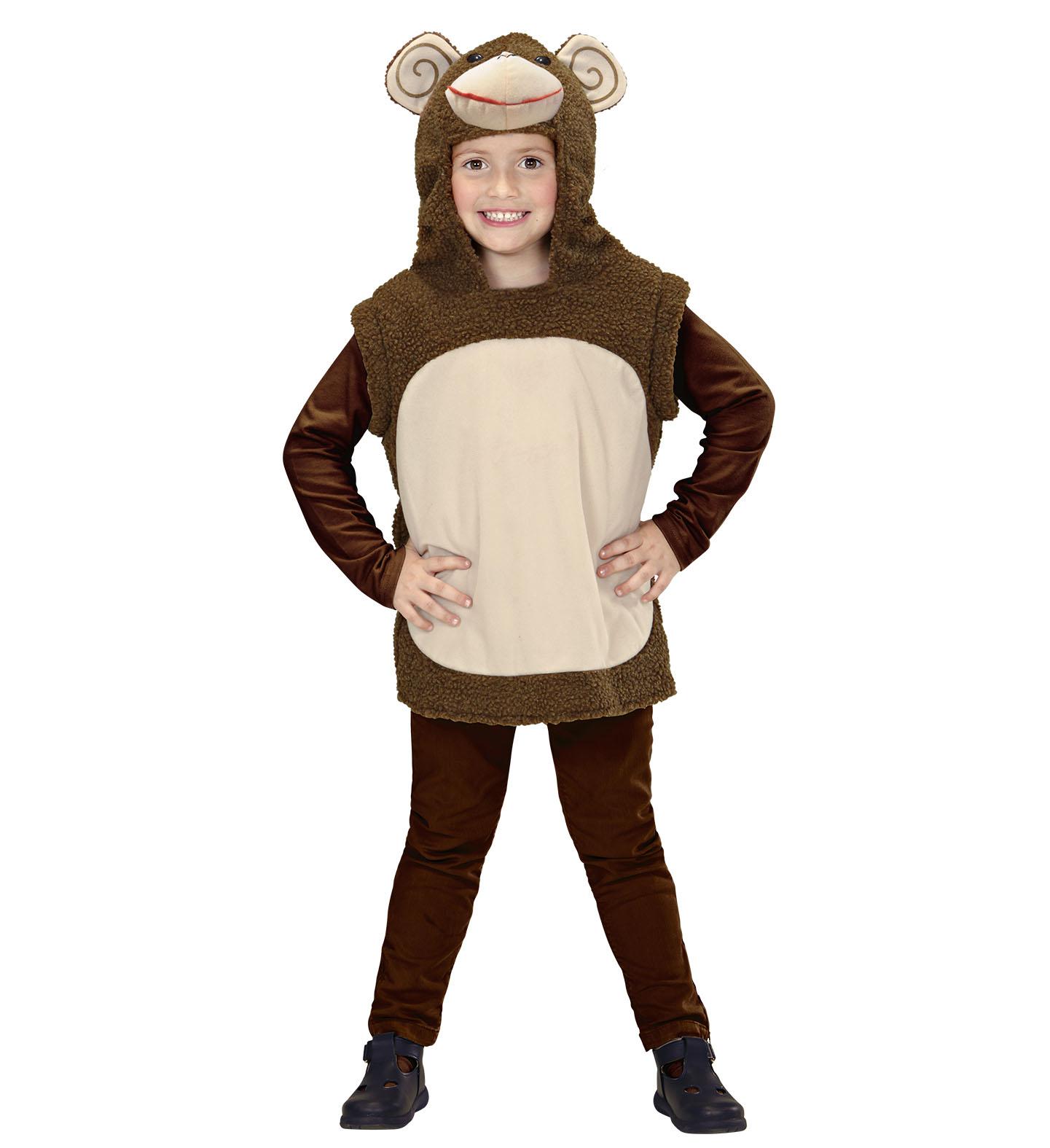 Toddler Monkey Hooded Vest Costume Animal Fancy Dress