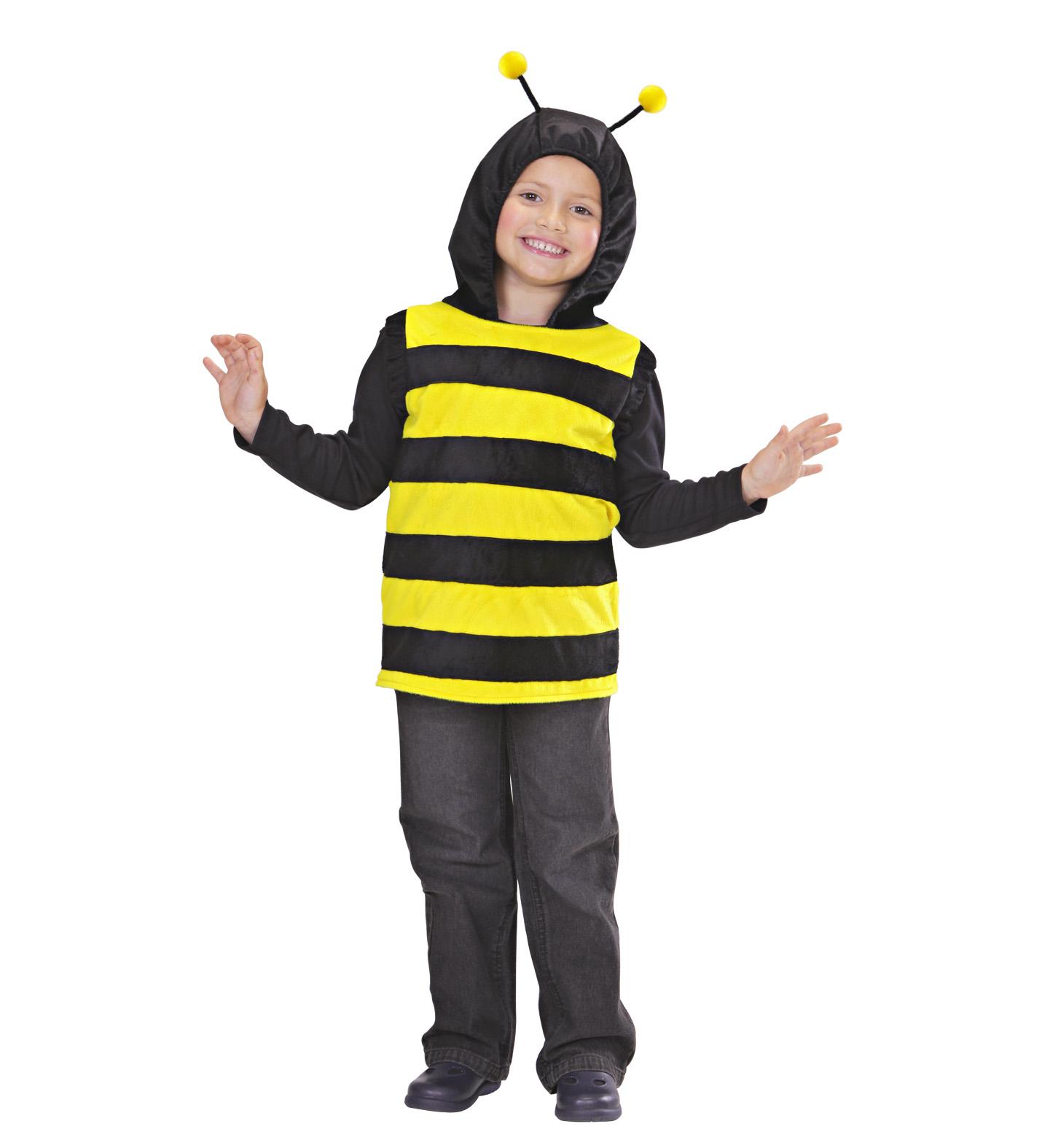 Toddler Bee Hooded Vest Costume Animal Fancy Dress