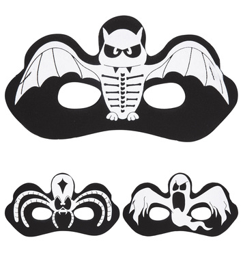 HALLOWEEN EYEMASK (spider ghost bat)