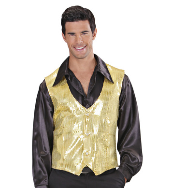 GOLD SEQUIN VEST - MENS