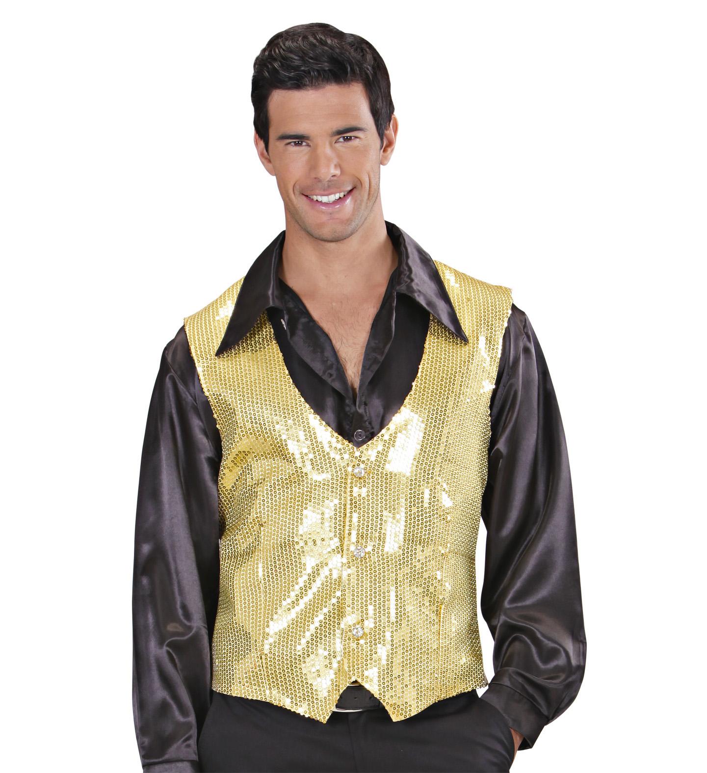 Gold Sequin Vest - Mens Fancy Dress