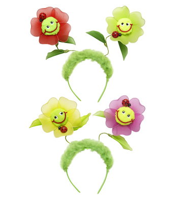 FLOWER HEAD BOPPERS (pink/red)