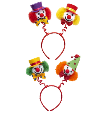 CLOWN HEAD BOPPERS (green/orange & red/yellow)