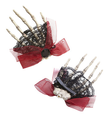 SKELETON HAND BROOCHE / HAIR CLIP