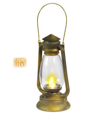 LANTERN WITH FLICKERING LED LIGHT