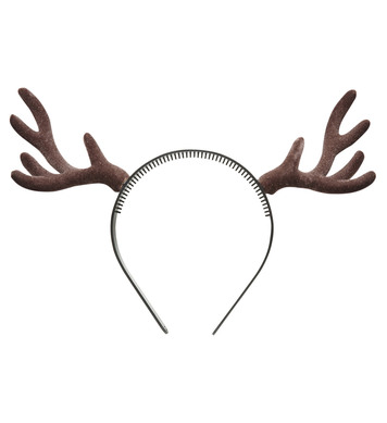 FLOCKED REINDEER HORNS