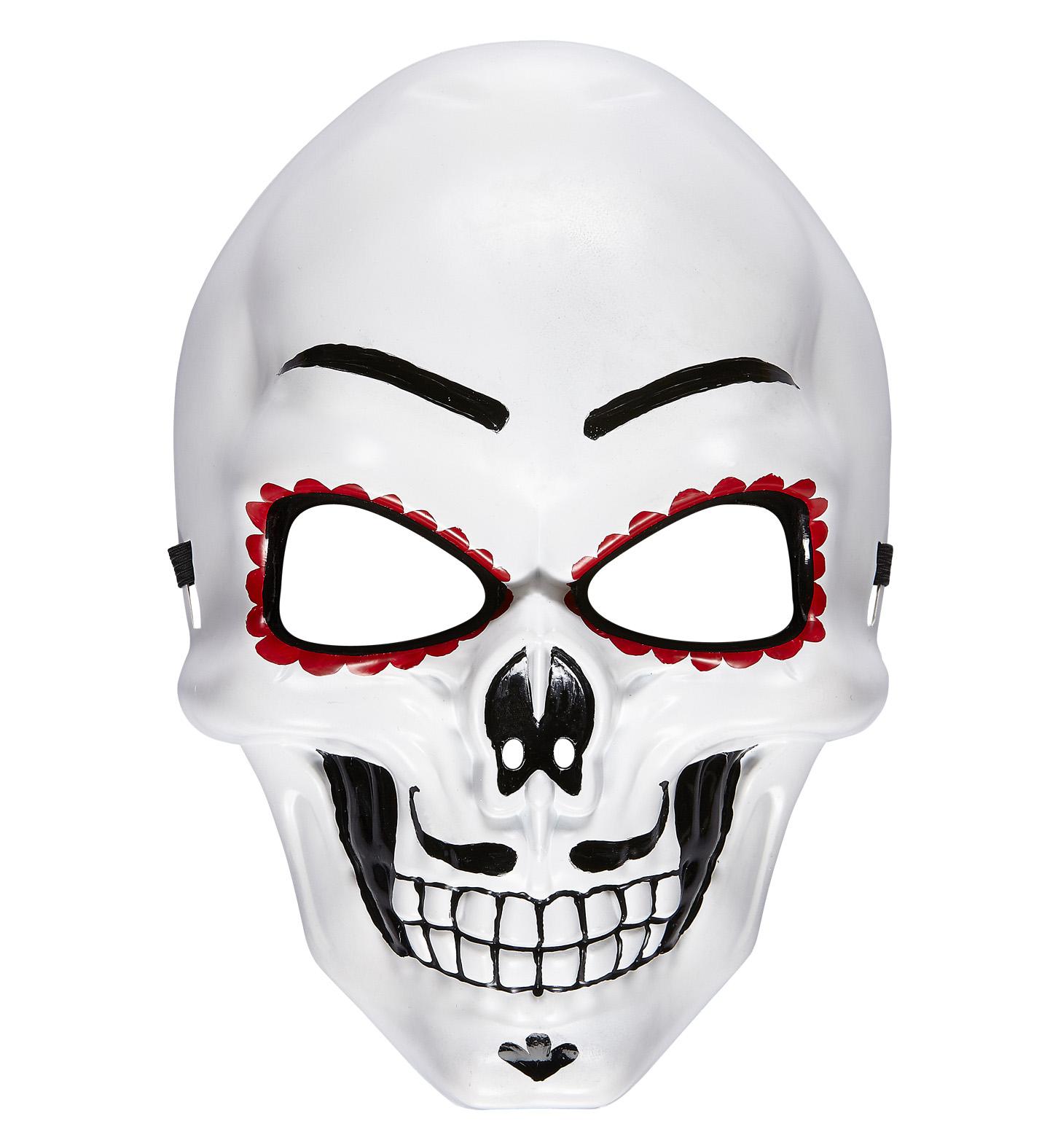 Dia De Los Muertos Half Face Mask Halloween Fancy Dress