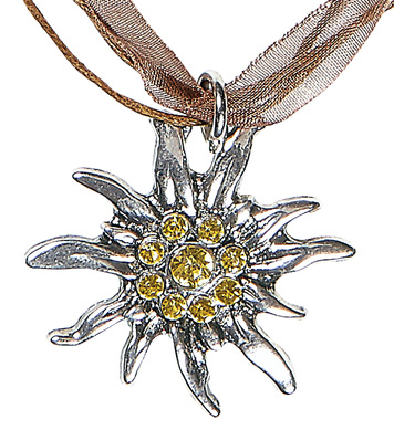 STRASS EDELWEISS NECKLACE