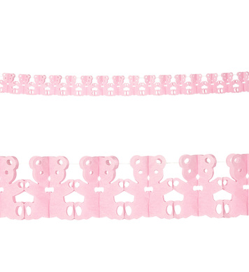 PINK TEDDY BEAR GARLAND 3 m