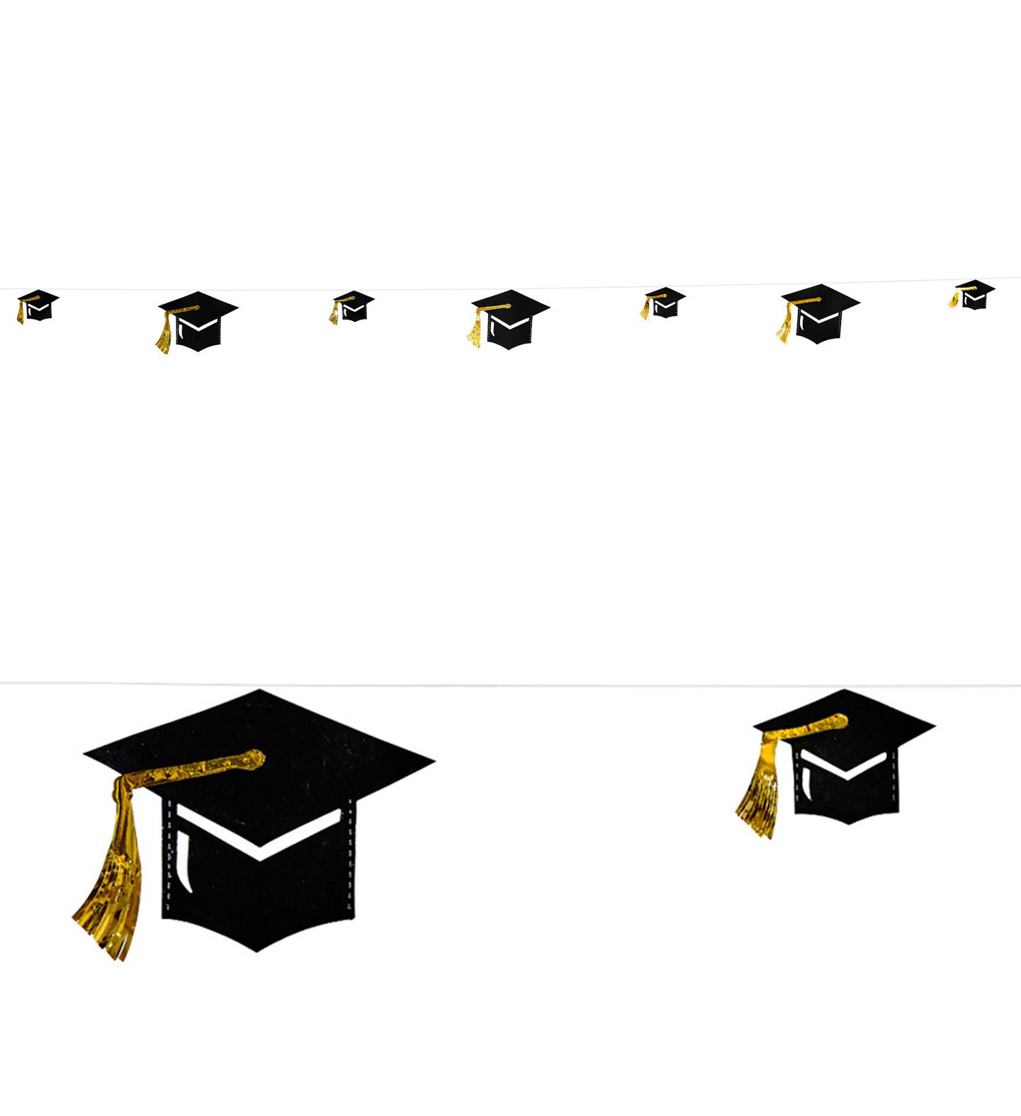 Graduate Hat Garland 4 M Party Decoration School