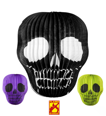 SKULL LAMPION Ø 25cm - 3 colors ass.