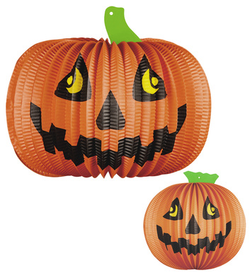 Set of 2 PUMPKIN LAMPIONS Ø 26cm