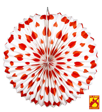 RED HEARTS LAMPION Ø 36cm